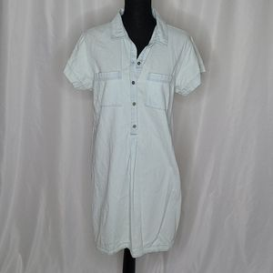 Old Navy denim shirt dress size Large